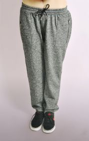 Fleck Marl Joggers With Zip Detail